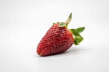 strawberry, isolated on white background