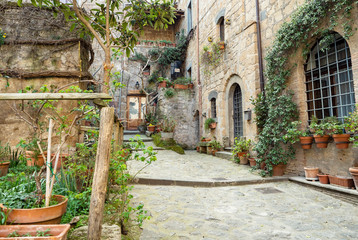 Fototapeta Civita di Bagnoregio city detail