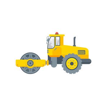 asphalt paver machine illustration side view