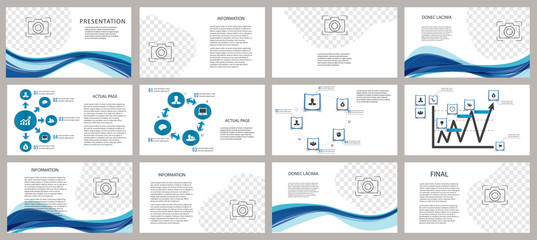 Presentation template. Elements for slide presentations on a white background. Flyer, brochure, corporate report, marketing, advertising, annual report, banner