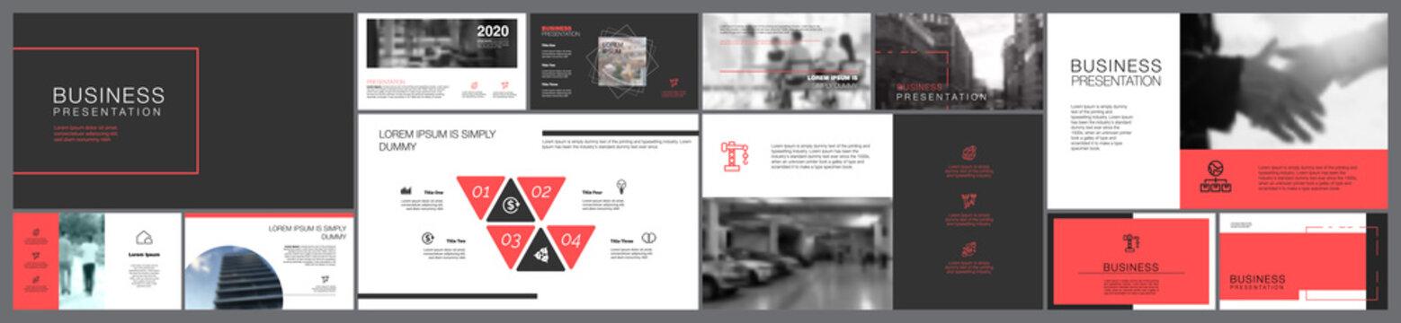 Nine Planning Business Slide Template Set