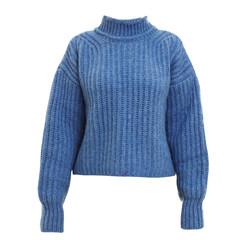 Stylish warm female sweater on white background