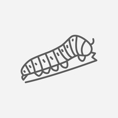 Swallow caterpillar icon line symbol. Isolated vector illustration of  icon sign concept for your web site mobile app logo UI design.