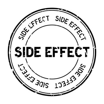 Grunge black side effect word round rubber seal stamp on white background