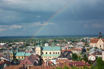Krajobraz miasta Przemyśl w Polsce