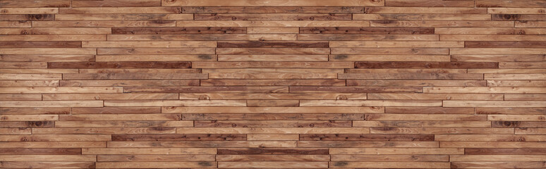 Poster Bois panorama wood wall texture , wooden background ,Beautiful Abstract , brick Texture Banner With Space For Text