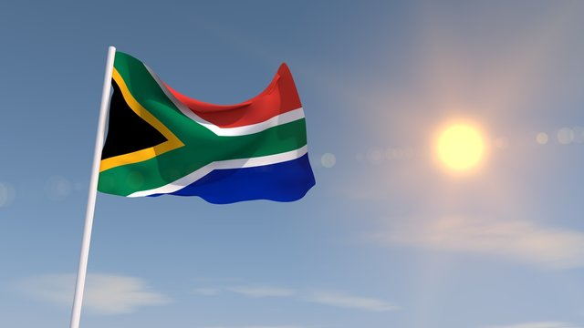 3d rendering South africa flag high resolution