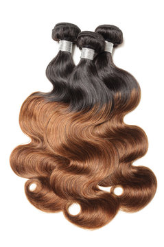 body wave wavy black to copper brown ombre style human hair weaves extensions bundle