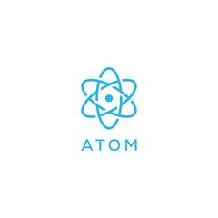 atom logo design