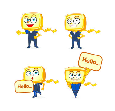 Yellow Box Mascot Character Designs