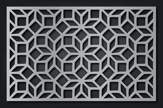 Decorative panel. Laser cutting, die cutting or stencil.