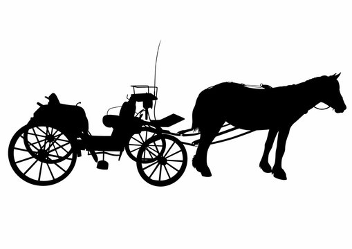 Shadow of a large carriage