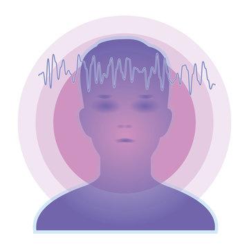 脳波のイメージ・透明