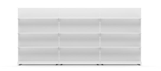 Fototapeta rayonnage vide pour présentation de produits obraz