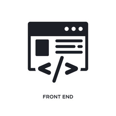 front end isolated icon. simple element illustration from technology concept icons. front end editable logo sign symbol design on white background. can be use for web and mobile