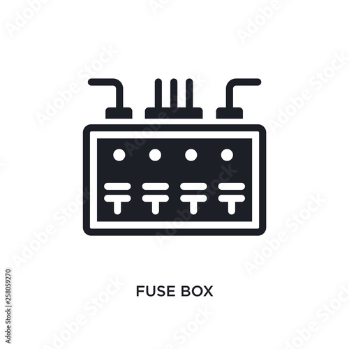 fuse box isolated icon. simple element illustration from electrian Fuse Box Use on