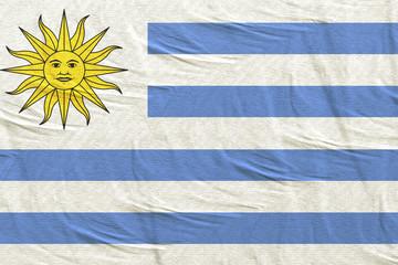 Oriental Republic of Uruguay flag waving