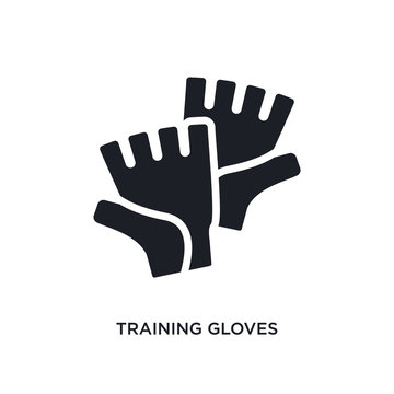 training gloves isolated icon. simple element illustration from gym and fitness concept icons. training gloves editable logo sign symbol design on white background. can be use for web and mobile