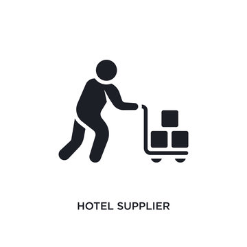 hotel supplier isolated icon. simple element illustration from humans concept icons. hotel supplier editable logo sign symbol design on white background. can be use for web and mobile