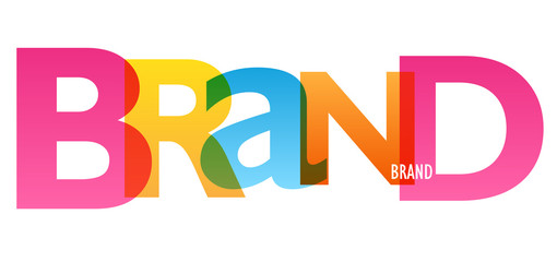 BRAND colorful typography banner