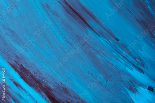 Blue Black And White Abstract Background Painting Blue