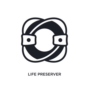 life preserver isolated icon. simple element illustration from nautical concept icons. life preserver editable logo sign symbol design on white background. can be use for web and mobile