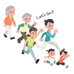 走る 3世帯