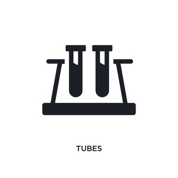 tubes isolated icon. simple element illustration from science concept icons. tubes editable logo sign symbol design on white background. can be use for web and mobile