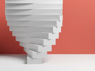 Abstract 3d white parametric installation