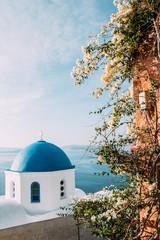 Spoed Foto op Canvas Santorini Sommer auf Santorini in Griechenland