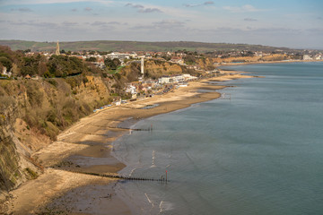 Shanklin from looking east from Luccombe.