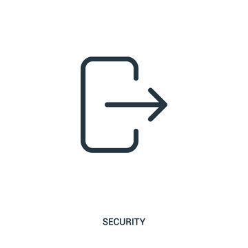 logout icon vector from security collection. Thin line logout outline icon vector illustration.