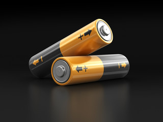 Batteries. Image with clipping path Wall mural