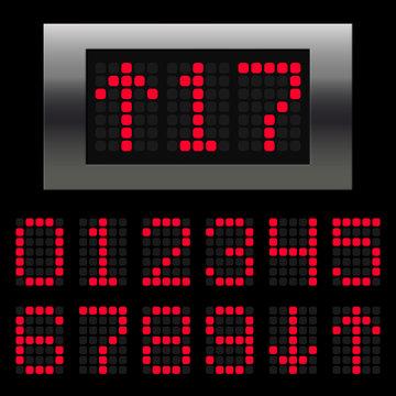 Elevator digital numbers