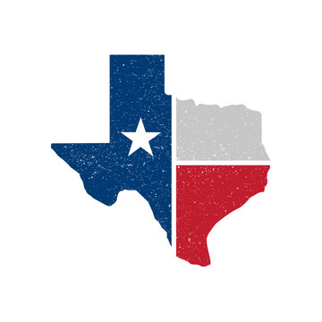 Distressed Texture Texas State Icon - Vector