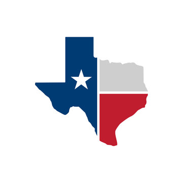 Texas map icon. Vector illustration - Vector