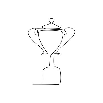 drawing a continuous line of award trophy for the champions.