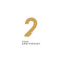 Fototapeta 2 year Anniversary Logo Vector Template Design Illustration obraz