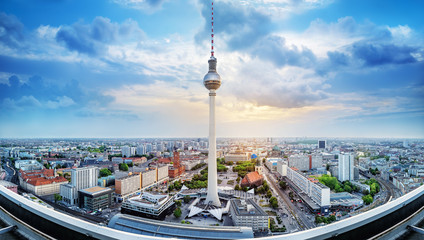 In de dag Berlijn panoramic view at the city center of berlin