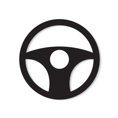 car steering wheel icon- vector illustration