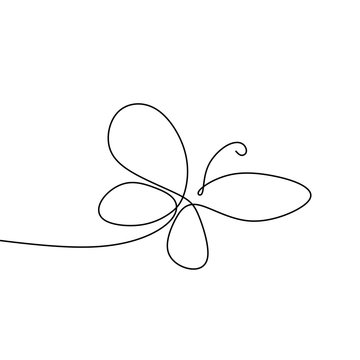 picture of a continuous line of minimalist butterfly animals.