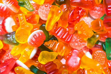 Sweet Background With Colorful Sugar Jellies, Selective Focus, Texture,Wallpaper