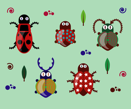 bug and beetle clipart set