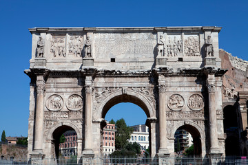 The triumphal arch at the Colosseum