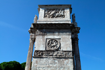 The side of the Arch of Constantine in Rome