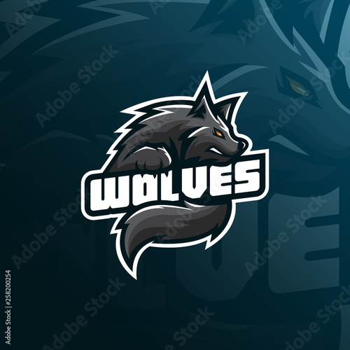 302ba93191b wolf vector mascot logo design with modern illustration concept style for  badge, emblem and tshirt printing. angry wolf illustration for sport and  esport ...