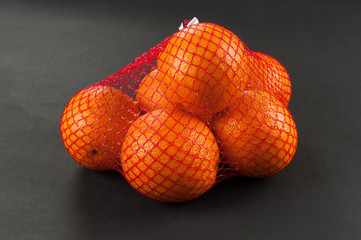 oranges in bag mesh