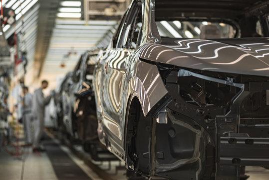 Production line of automobile plant, painting shop
