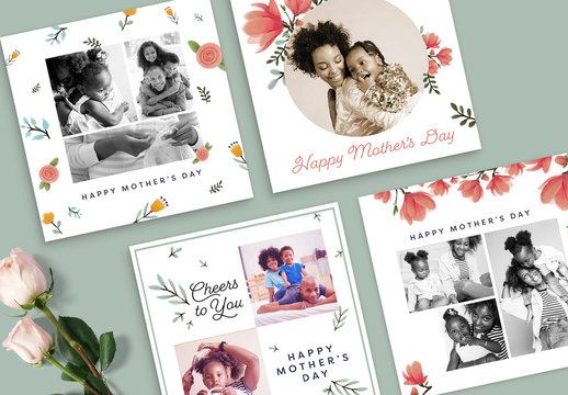 Floral Mother's Day Photo Collages with Filters