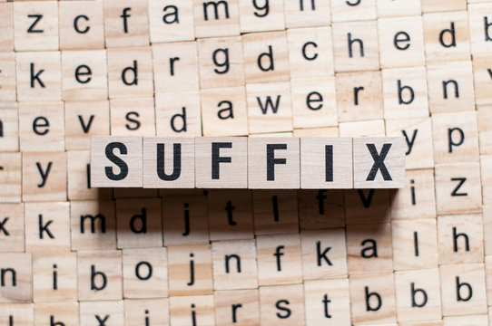 Suffix word concept